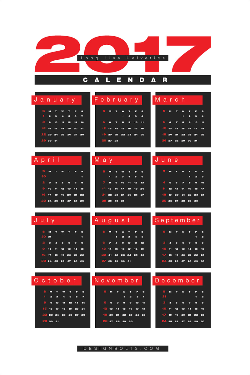 Calendar Design With Photos Free : Free wall calendar printable design template in ai