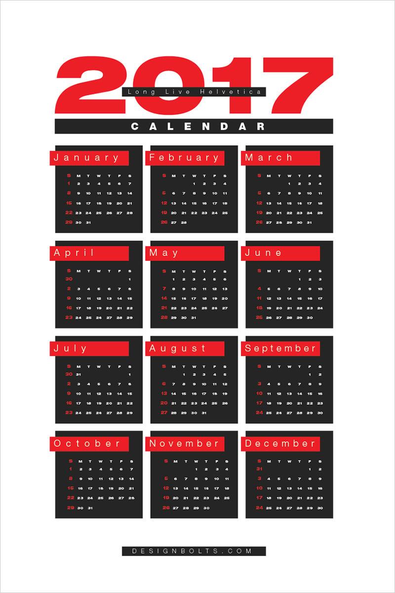 Free-2017-Calendar-Printable-Design-Template