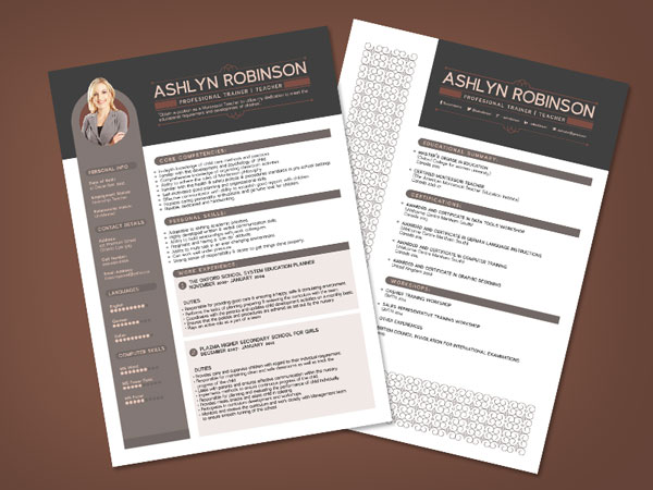 free premium professional resume cv design template with best resume format