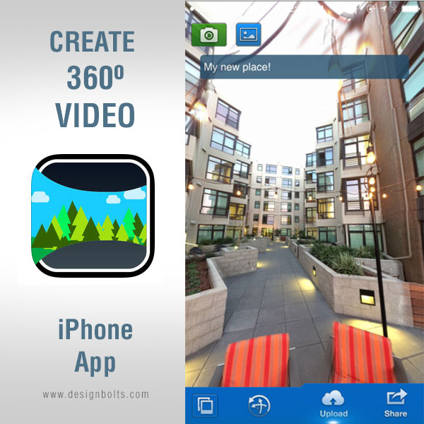 Create 360 Panorama Image iPhone app