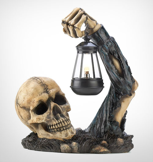 High-Quality-Sinister-Skull-with-Lantern-Halloween-Party-Decoration