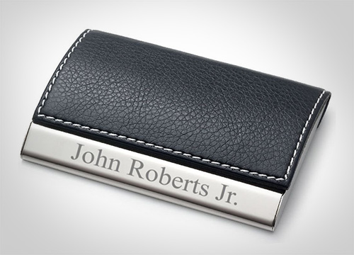 Personalized-Leatherette-Business-Card-Case---Free-Engraving
