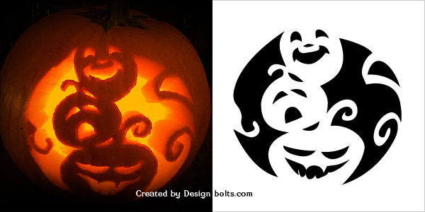 10 free scary halloween pumpkin carving patterns stencils Architecture pumpkin stencils