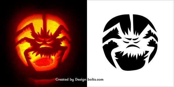 scary halloween spider pumpkin stencil 2016