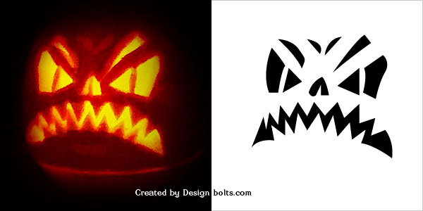 Scary Halloween Pumpkin carving Stencil 2016