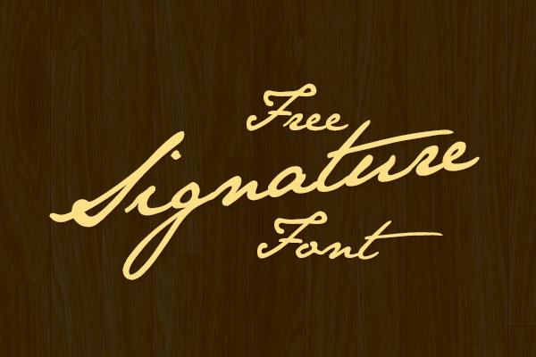 best-Free-Signature-Font
