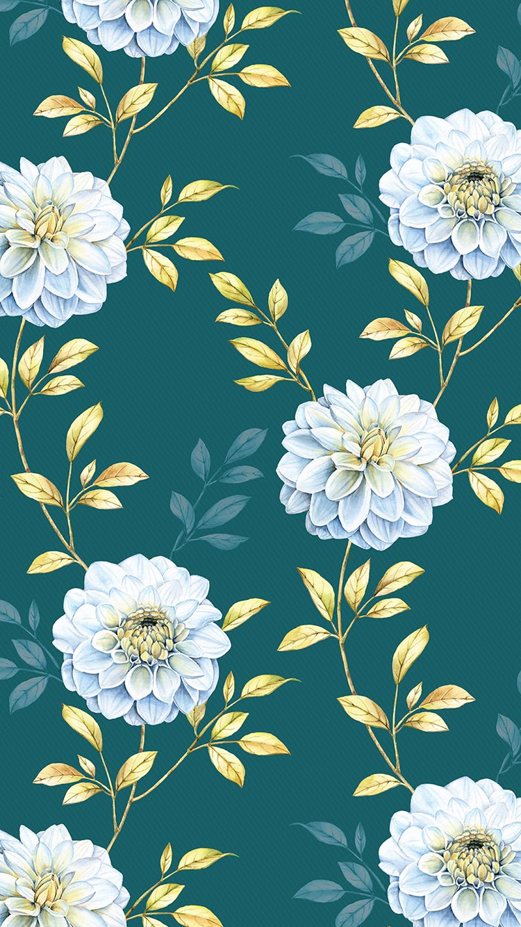 Beautiful Cool Floral Pattern Iphone 7 Wallpaper
