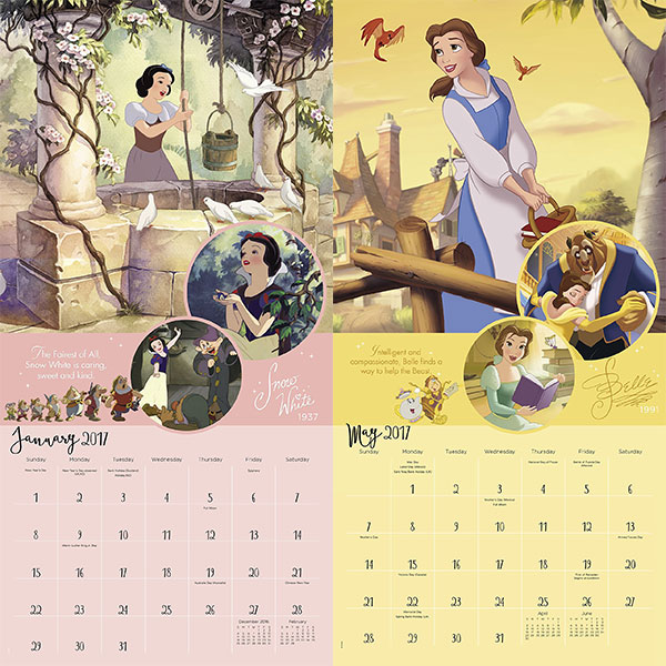 Disney-Princess-Wall-Calendar-2017-3