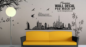 free-vinyl-wall-art-decal-sticker-mockup-psd-file