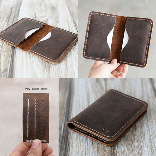 Handmade-Slim-Leather-Wallet-Credit-Card-Holder