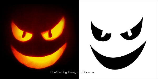 Easy halloween pumpkin carving stencils patterns