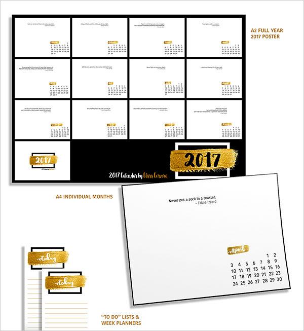 Quotes-Calendar-2017-Design-