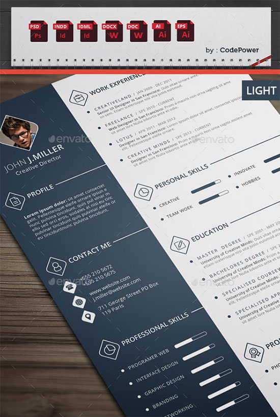 10 All Time Best Premium Simple & Infographic Resume / CV Template ...