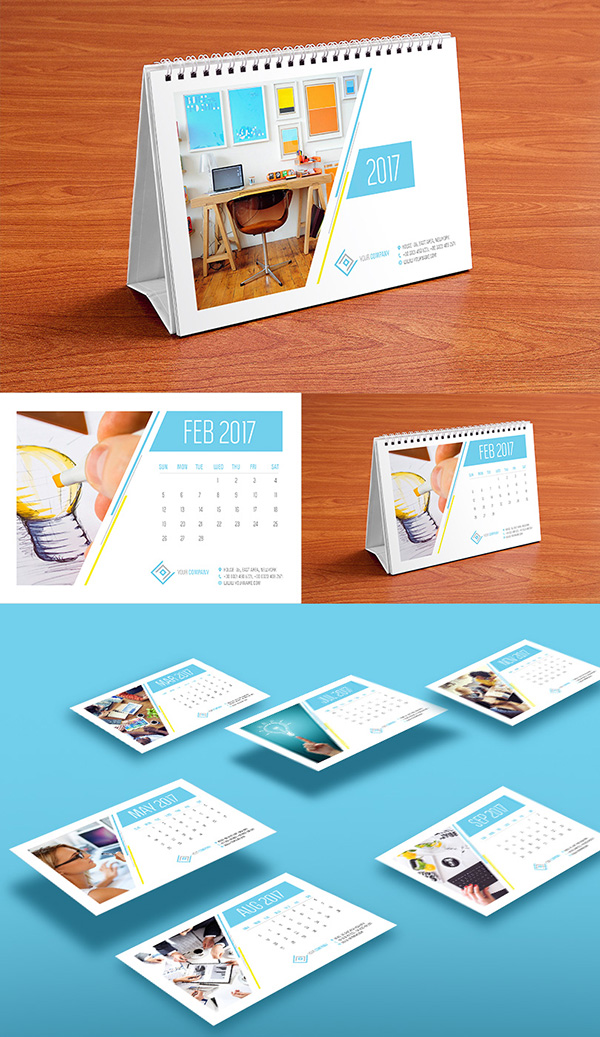 Table Calendar Design : Best monthly wall desk calendar designs of you