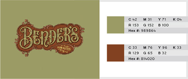 Dull Green & Brown Color Combination