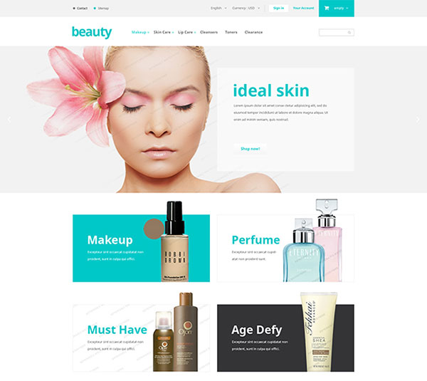 Free Beauty Saloon PrestaShop Theme
