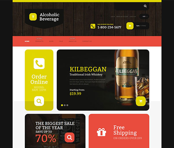 Free Beverage Store Shopify Template