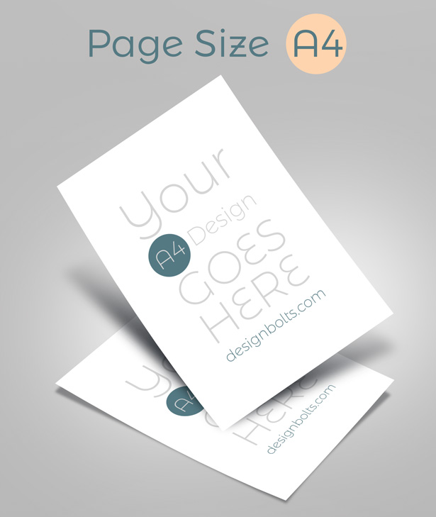 Free A4 Resume Mock Up Psd Display For Presentation
