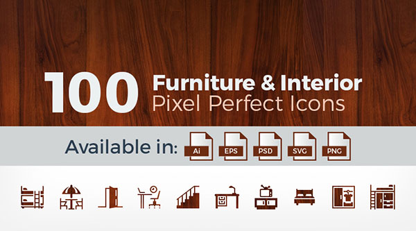100-pixel-perfect-furniture-interior-vector-icons
