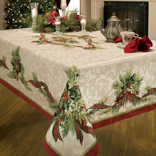 Benson-Mills-Christmas-Ribbons-Fabric-Tablecloth