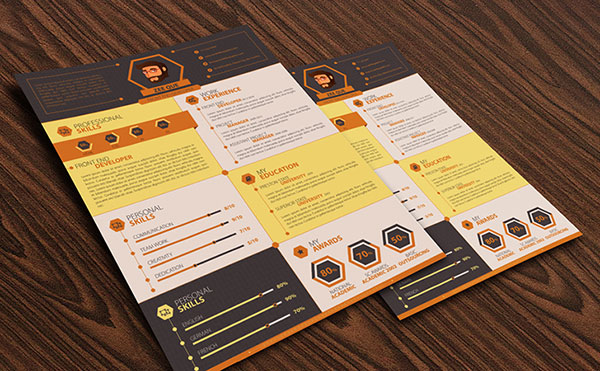 flat-resume-template-design-for-developers