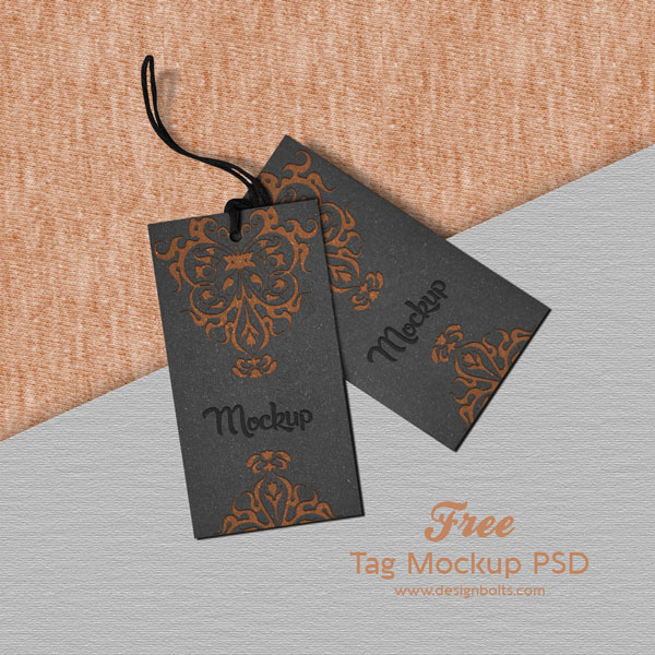 free clothing brand price tag mockup psd file  u2013 designbolts