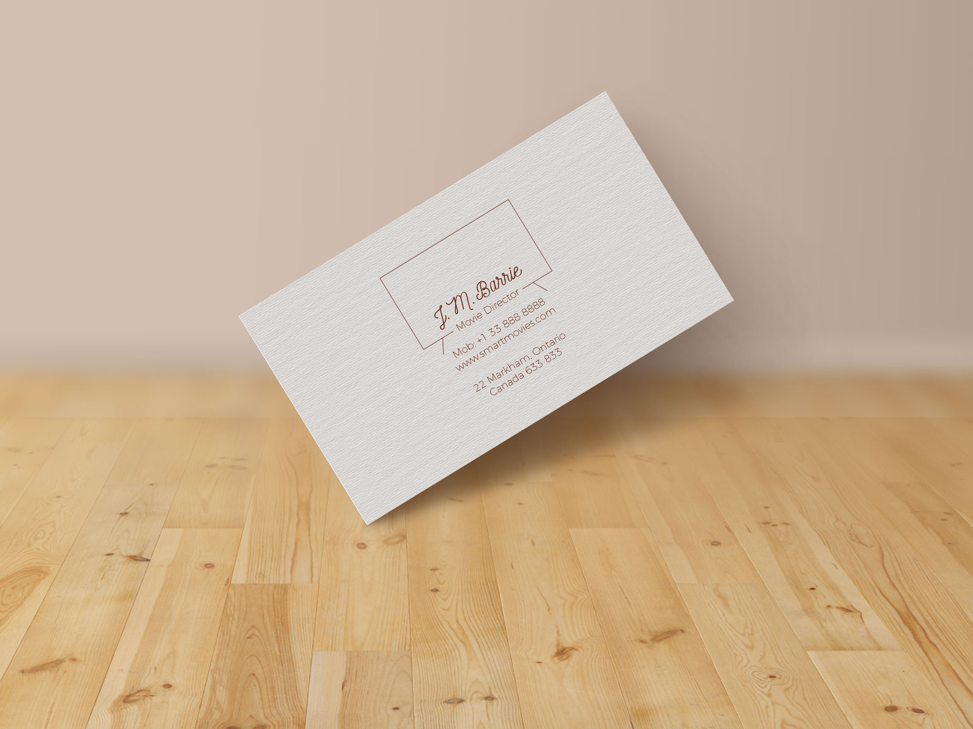 Extremely Simple Free Business Card Design & Mock up PSD