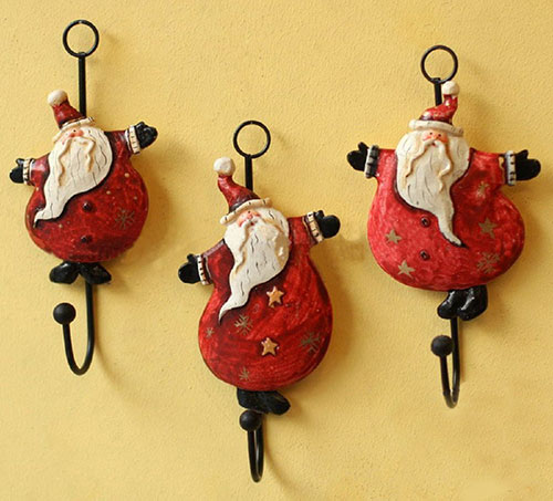 santa-christmas-home-decorations-iron-wall-hook