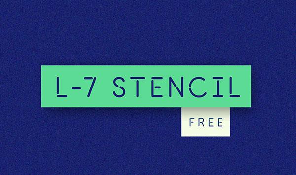 l-7-stencil-font-free
