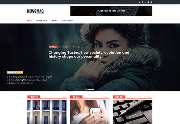 News Mag WordPress Theme