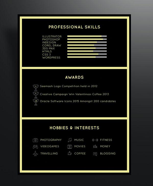Free-Black-Professional-Resume-Template-2 Template Cover Letter Design Free Black Professional Resume Fondul on