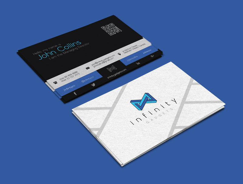 Free modern business card design logo template fbccfo