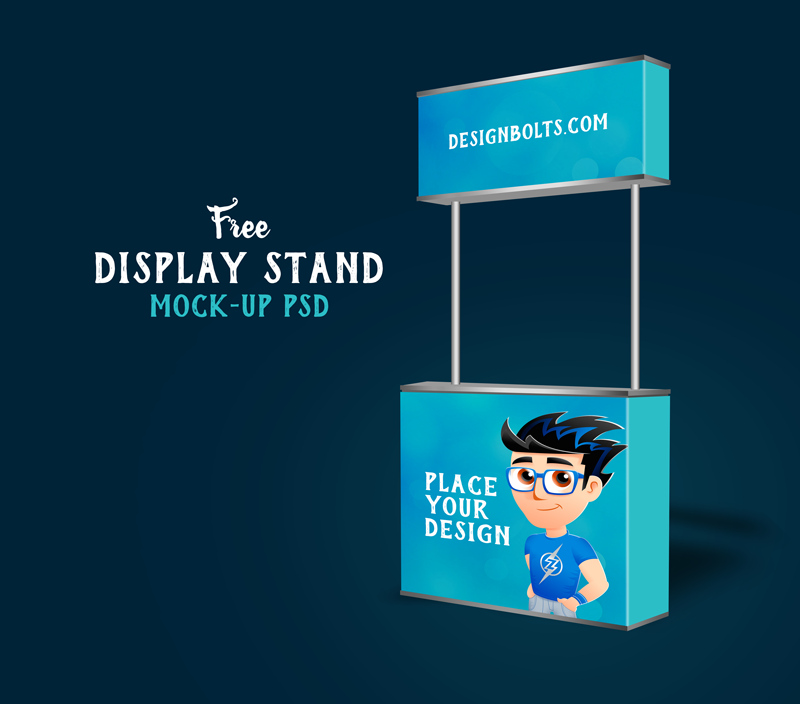 Free Pop Up Exhibition Stand Mockup : Free trade show booth display stand mock up psd