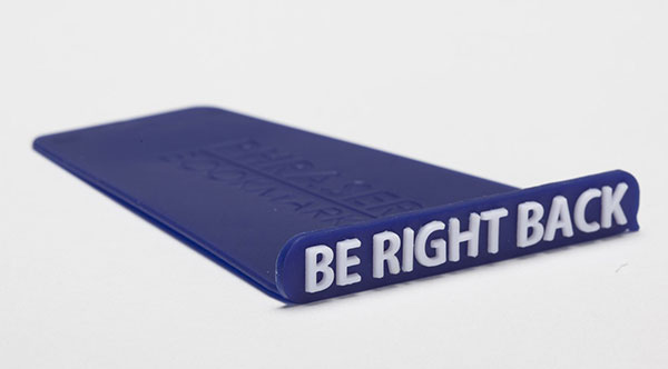 Be-Right-Back-Blue-Plastic-Bookmark-Creative