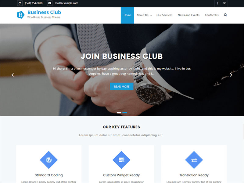 Business-Club-multipurpose-WordPress-theme-2017
