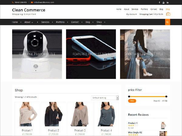 Clean-Commerce-modern-e-commerce-WordPress-theme-2017