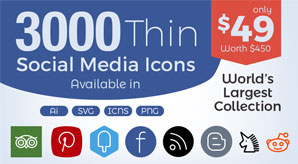 Free-&-Premium-3000-Thin-Social-Media-Icons-2017-In-Ai,-SVG,-PNG-&-ICNS