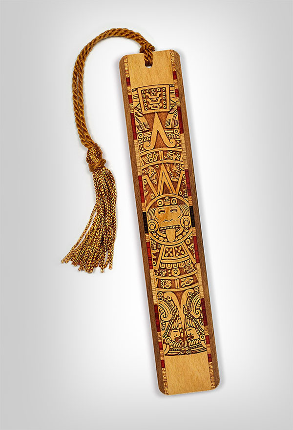 Mayan-Engraved-Wooden-Bookmark
