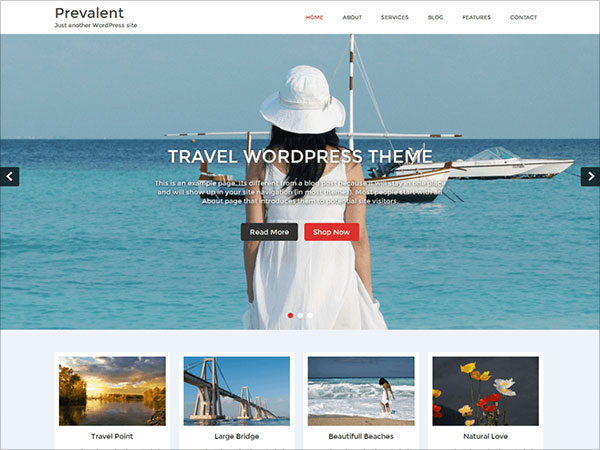 Prevalent-Free-Travel-WordPress-theme