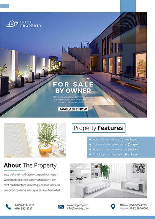 Attractive Real Estate Flyer Design Ideas