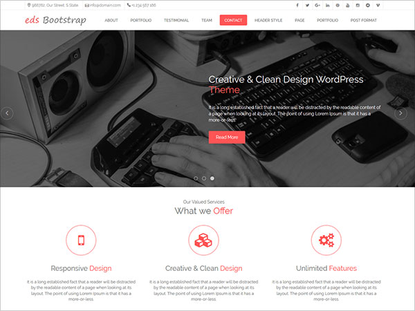 edsBootstrap-modern-and-elegant-One-Page-WordPress-Theme