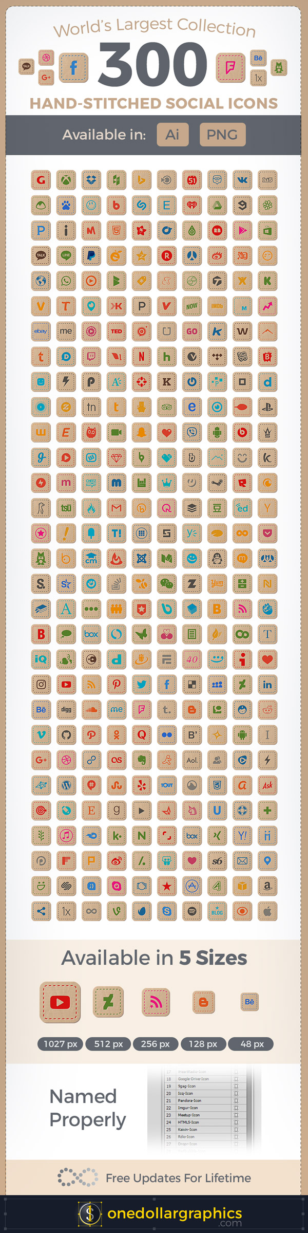 300-Hand-Stitched-Premium-Social-Media-Icons-For-Art-&-Craft-Websites-600