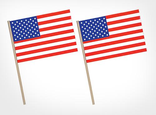 American-Plastic-Flag,-11-Inch-by-17-Inch
