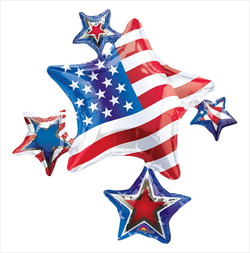 Anagram-International-American-Spirit-Cluster-Flat-Balloon,-35-inches-Multicolor