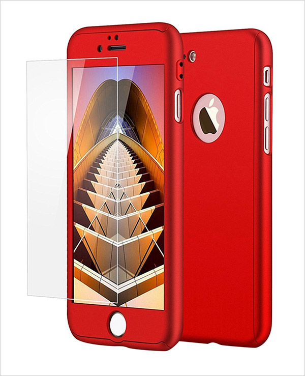 Apple-iPhone-7-Case-Red-Full-Body-Protection-Hard-Premium-Cover