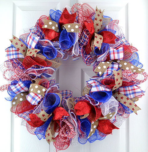 Fourth-of-July-Independence-Day-Mesh-Door-Wreath