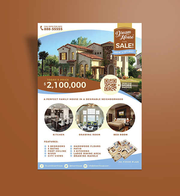 House Sale Flyer. Real-Estate-House-For-Sale-Flyer Mcgeeimages Com