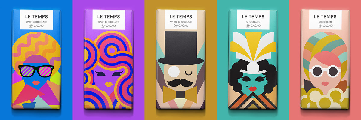 Le-Temps-Cool Chocolate Packaging