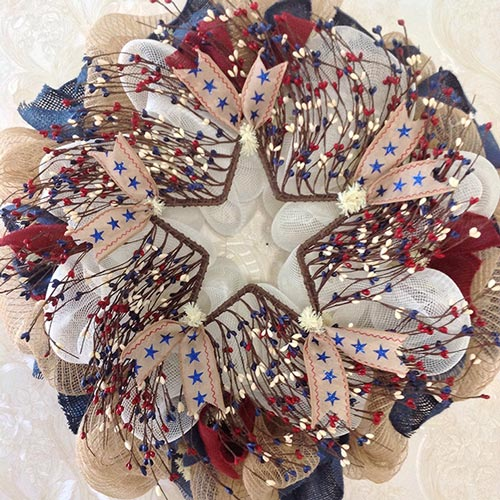 New-Premium-Fourth-of-July-Twig-Berry-Wreath-Handmade-Deco