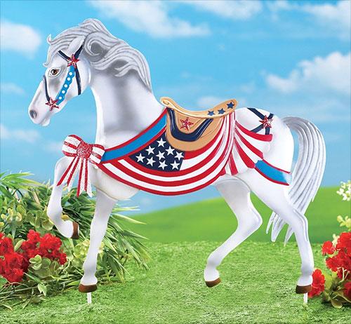 Patriotic-Americana-Horse-Yard-Decoration